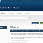 EP-Dokumentenregister