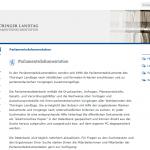 Thüringen - Parlamentsdokumentation
